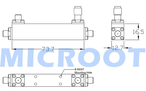 Directional Coupler Outline Drawing